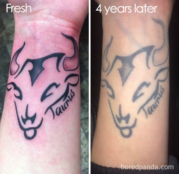 Avant Apres Quand Les Tatouages Prennent De L Age
