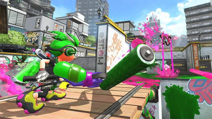 Image illustration combat Splatoon