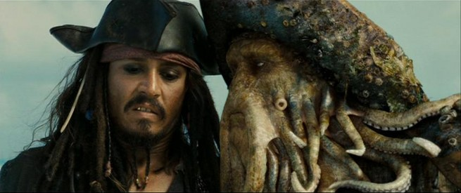 Jack Sparrow et Davy Jones