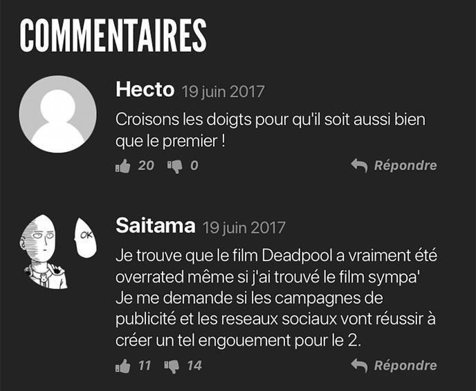 vote comment