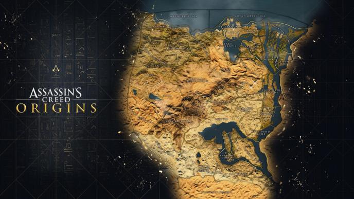 Ubisoft a dévoilé la carte du jeu — Assassin's Creed Origins