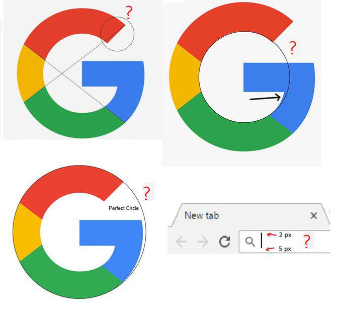 Souvent Cet internaute a remarqué quelque chose qui cloche dans le logo Google GM45