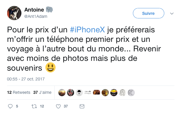 top tweet iPhone x 7