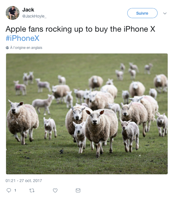 top tweet iPhone x 5