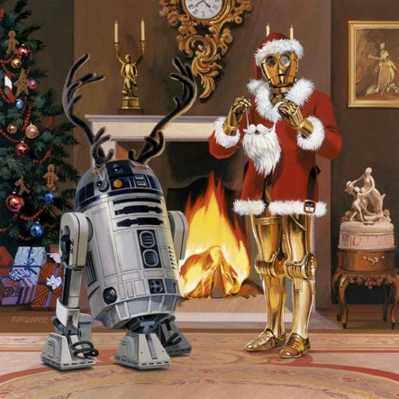carte de voeux Star Wars 1