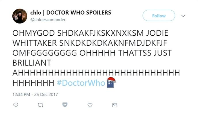 reaction twitter fan doctor who 10