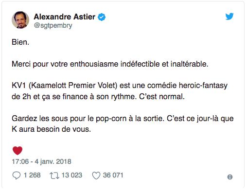 Alexandre Astier donne enfin des nouvelles de Kaamelott