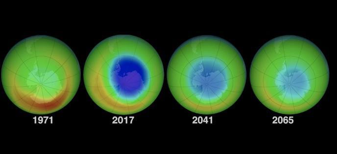 Nous avons maintenant la preuve que le trou dans la couche d 39 ozone diminue - Trou dans la couche d ozone ...