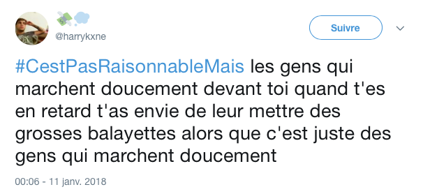top tweet pas resonnable mais 11