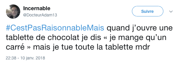 top tweet pas resonnable mais 10