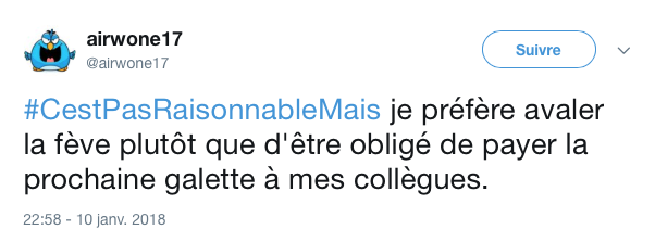 top tweet pas resonnable mais 9