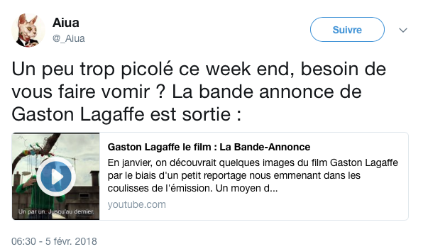 Top tweets gaston lagaffe 1