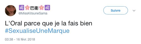 top tweet marque sexualise 24