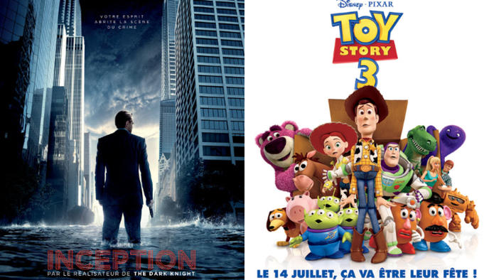 affiche Inception Toy Story 3