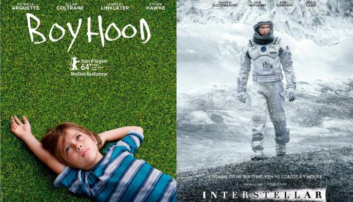 affiche Boyhood et Interstellar