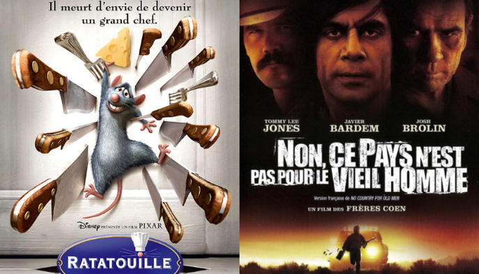 affiche Ratatouille No Country for Old Men