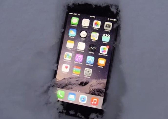 iPhone neige