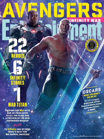 couverture Avengers infinity war 4