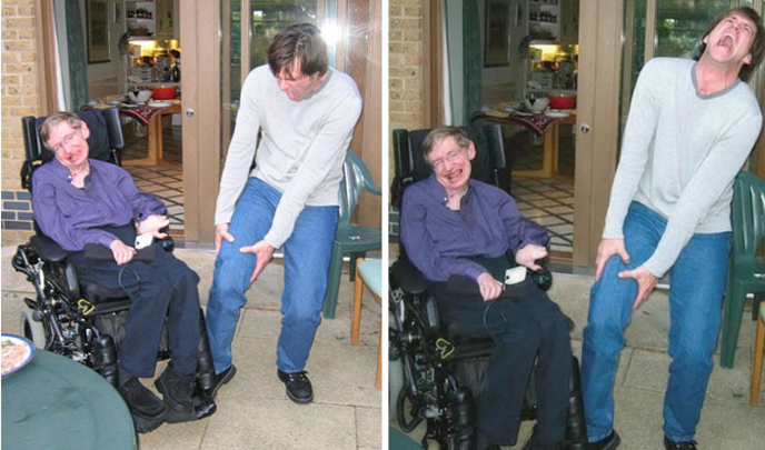 Stephen Hawking Jim Carrey