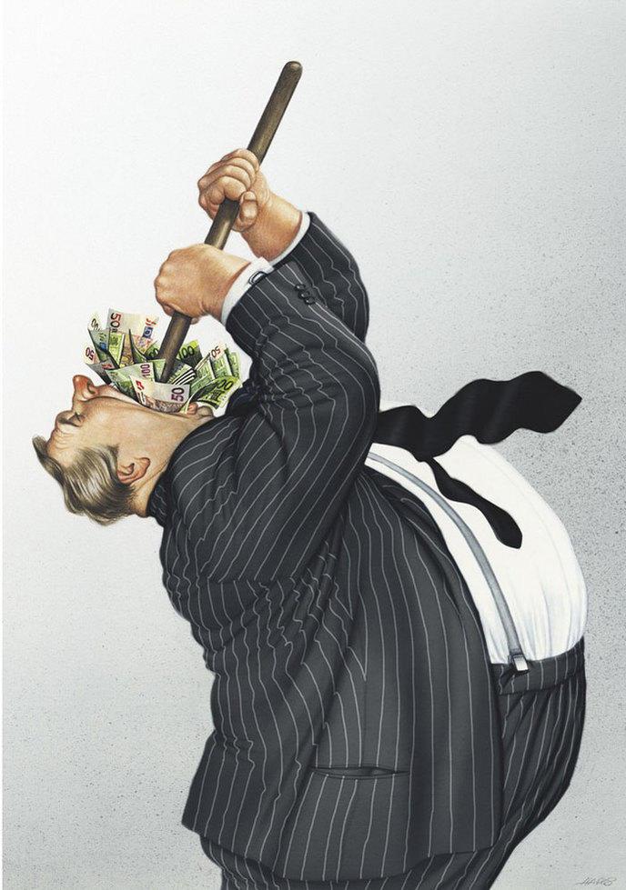 caricature gerhard haderer