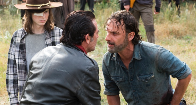 The Walking Dead Rick et Negan