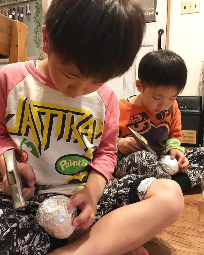 boules aluminium polies parfaites japon