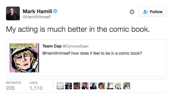 tweet Mark Hamill