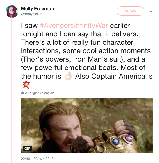 reactions twitter infinity war 5