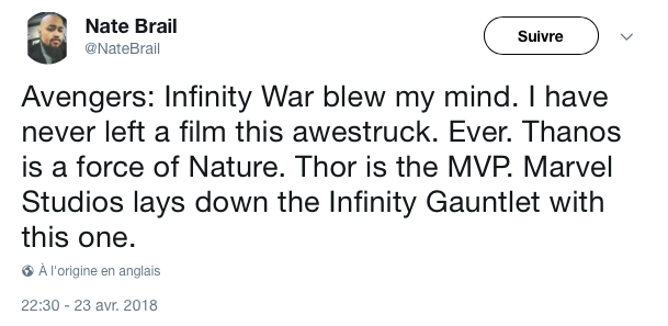 reactions twitter infinity war 4