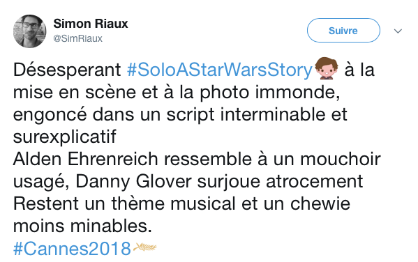 tweets reactions solo cannes 13