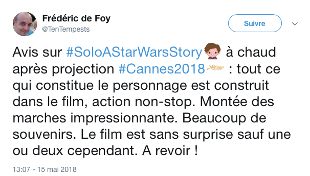 tweets reactions solo cannes 10