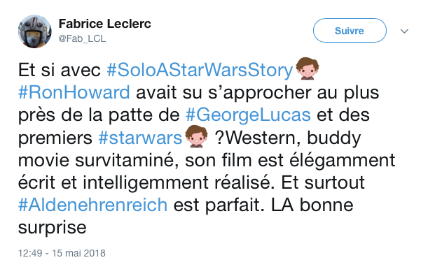 tweets reactions solo cannes 9