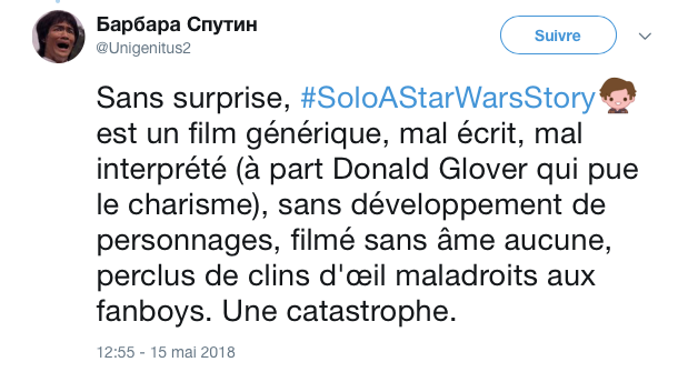 tweets reactions solo cannes 8