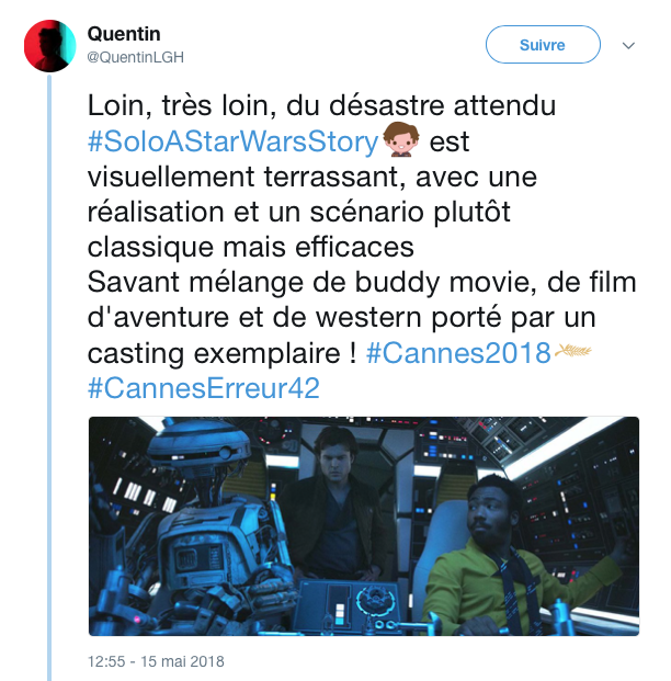 tweets reactions solo cannes 7