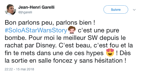 tweets reactions solo cannes 6