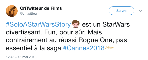 tweets reactions solo cannes 5