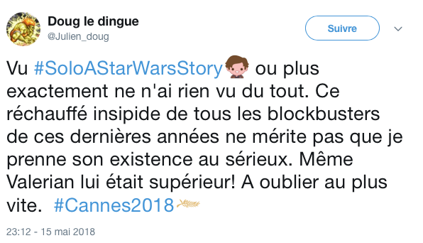 tweets reactions solo cannes 3