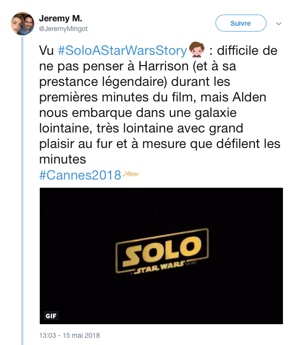 tweets reactions solo cannes 2