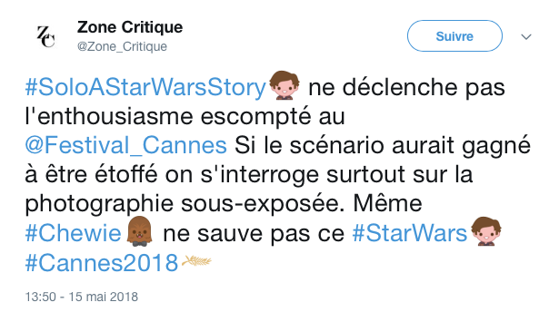 tweets reactions solo cannes 1