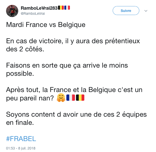 top tweets France Belgique 2018 25