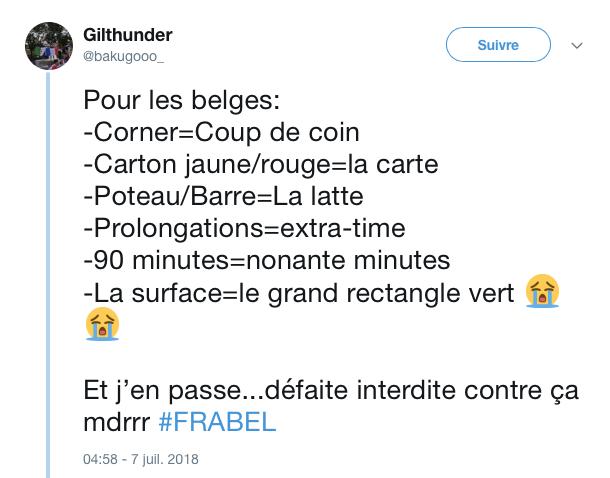 top tweets France Belgique 2018 24