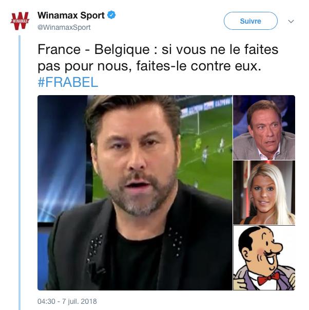 top tweets France Belgique 2018 22