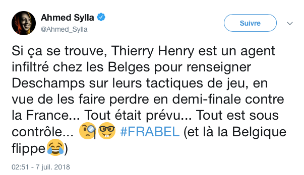 top tweets France Belgique 2018 21