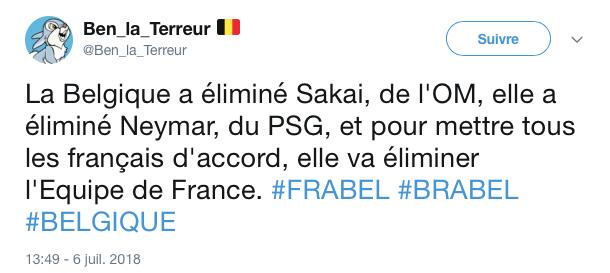 top tweets France Belgique 2018 20