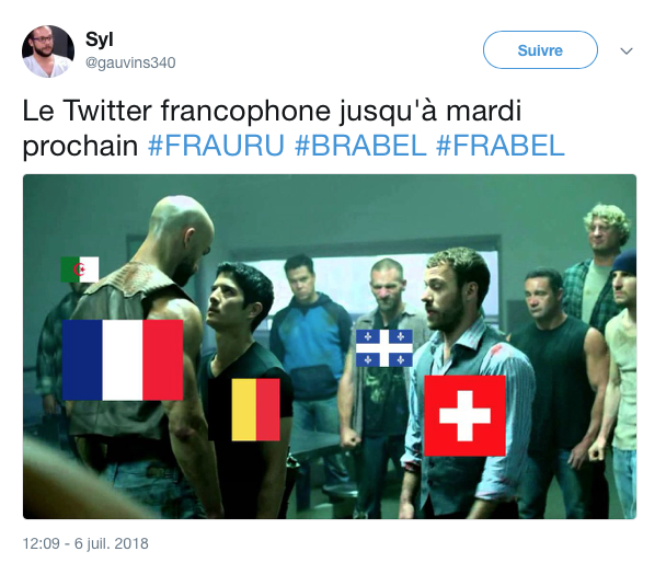 top tweets France Belgique 2018 19