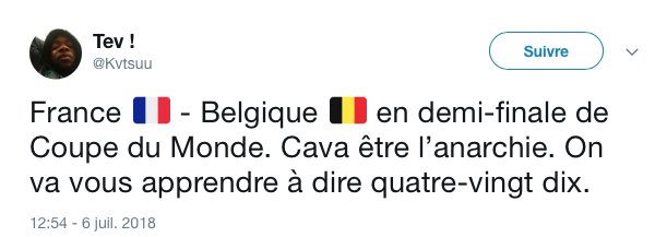 top tweets France Belgique 2018 9