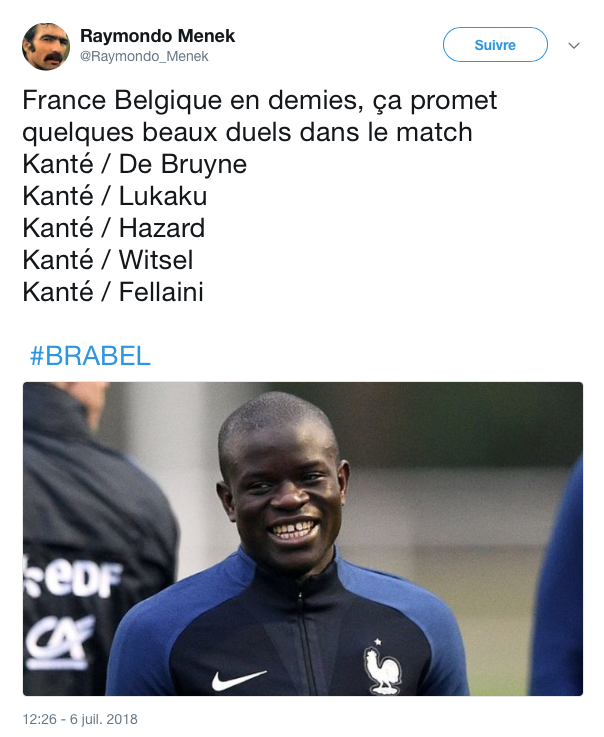 top tweets France Belgique 2018 7