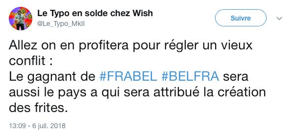 top tweets France Belgique 2018 6