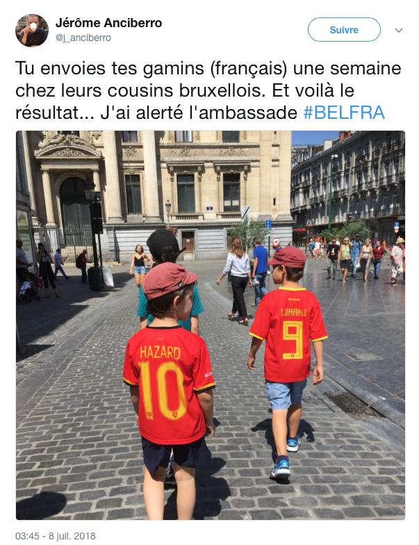 top tweets France Belgique 2018 5