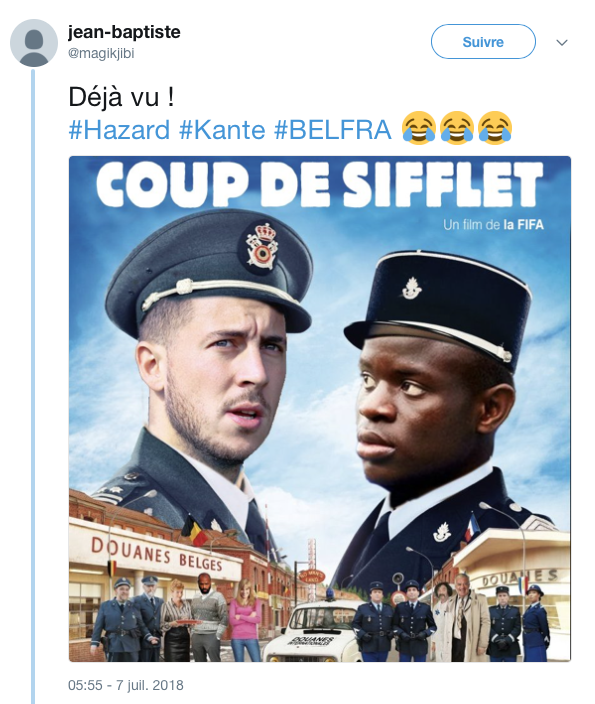 top tweets France Belgique 2018 4